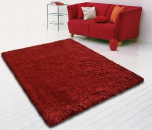 tapis-shaggy-rouge