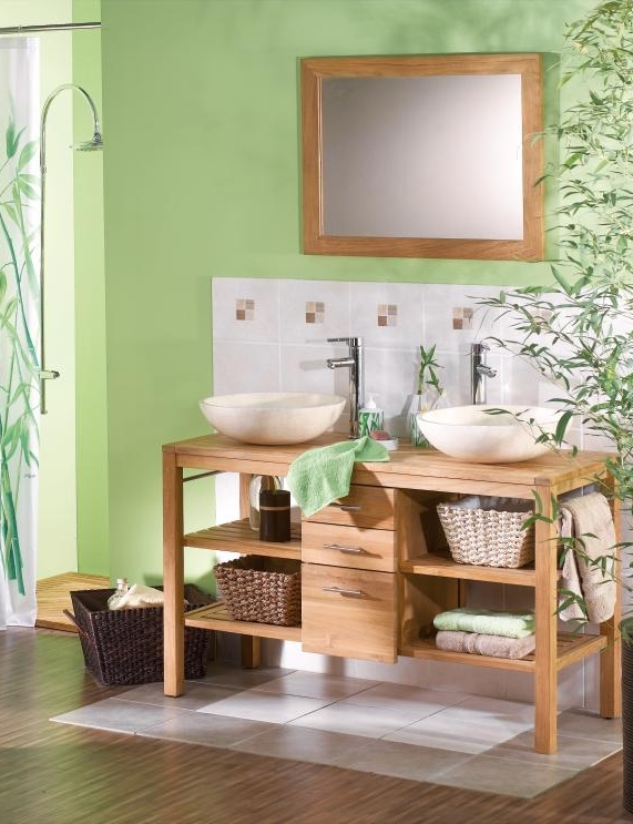 Idee Deco Chambre Bebe Verte : Idee Deco Salle De Bain Nature Populair Pictures to pin on Pinterest