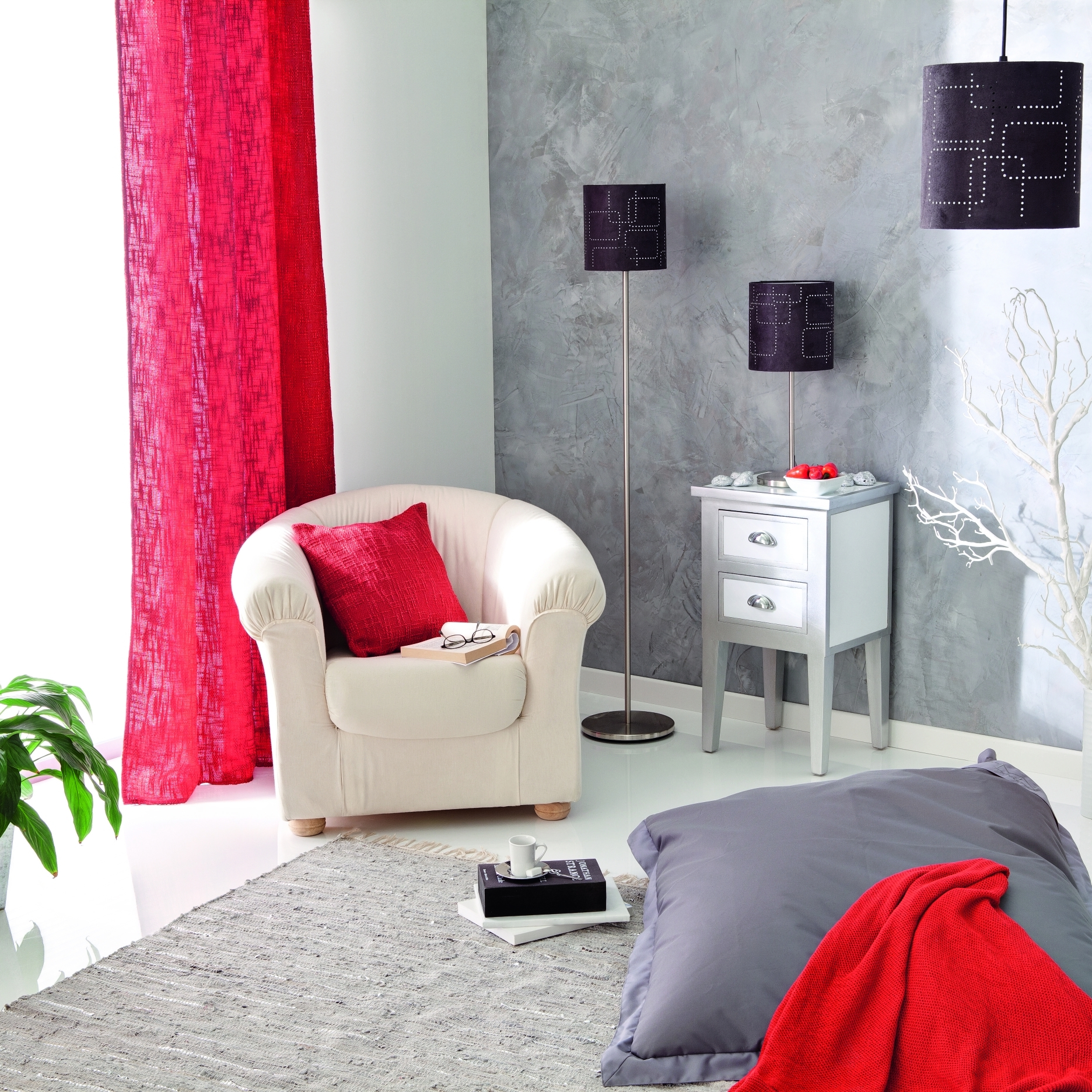 d co salon gris framboise. Black Bedroom Furniture Sets. Home Design Ideas